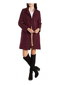 Longline Wool-Blend Trench Coat