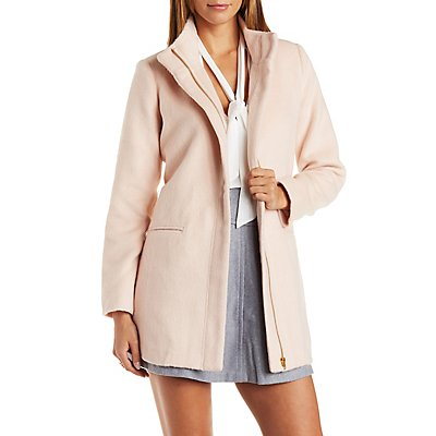 Longline Fuzzy Trench Coat