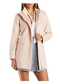 Longline Fuzzy Trench Coat