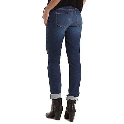 "Refuge ""Skinny Boyfriend"" Cropped Jeans"