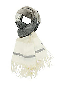 Striped Fringe Blanket Scarf