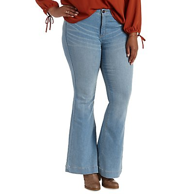 "Plus Size Refuge ""Flare"" Medium Wash Denim Jeans"