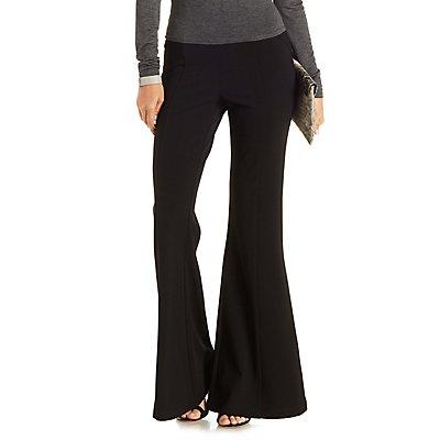 Seamed High-Waisted Flare Pants