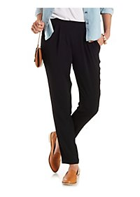 Pleated Slim Cut Trousers