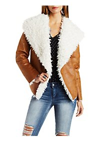 Faux Suede & Shearling Jacket