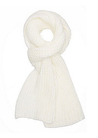 Chunky Ribbed Knit Scarf