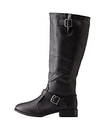 Double Belted Riding Boots
