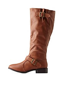 Bamboo Double Belted Riding Boots