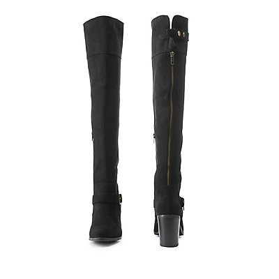 Chunky Heel Over-the-Knee Boots