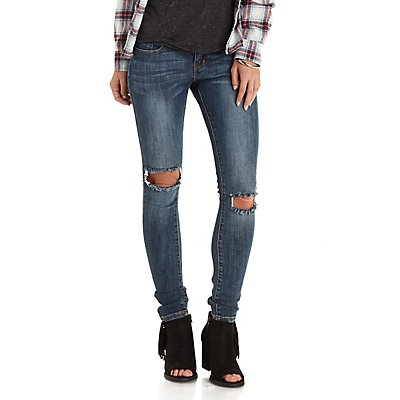 Machine Jeans Ripped Knee Skinny Jeans