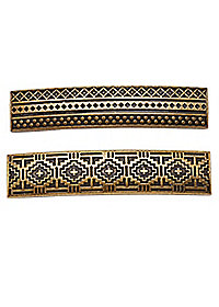 Etched Metal Barrettes - 2 Pack