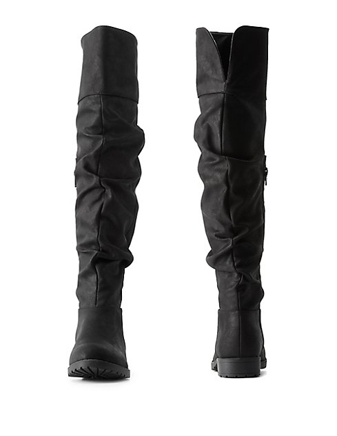 Bamboo Slouchy Over-the-Knee Boots | Charlotte Russe