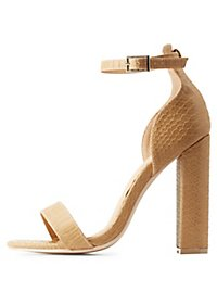 Chunky Heel Single Strap Dress Sandals