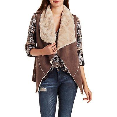 Double Zero Faux Fur Lined Vest