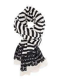 Blended Striped Oblong Scarf