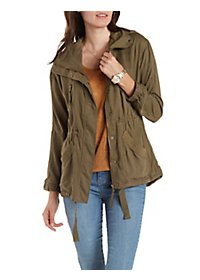 Convertible Hooded Anorak Jacket