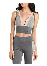 Color Block Performance Crop Top