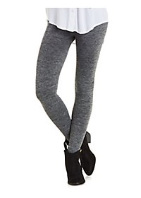 Marled Fleece-Lined Leggings