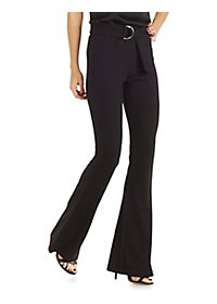D-Ring Belted Flare Pants