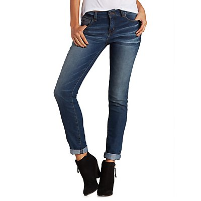 "Refuge ""Boyfriend"" Medium Wash Jeans"