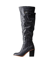 Restricted Block Heel Riding Boots