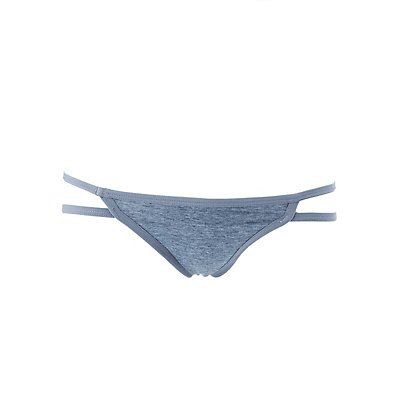 Caged Cotton Thong Panties