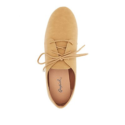 Qupid Lace-Up Flat Oxfords