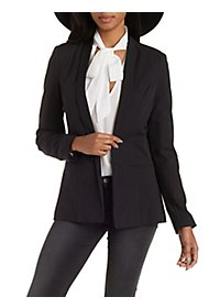 Structured Shawl Lapel Blazer