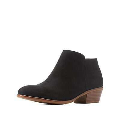 Stacked Heel Ankle Booties
