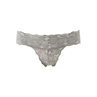 Floral Lace Thong Panties