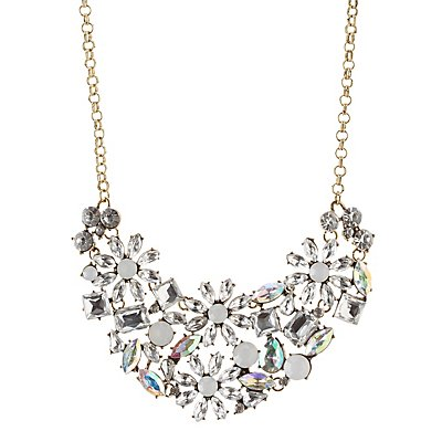 Faceted Gemstone Bib Necklace