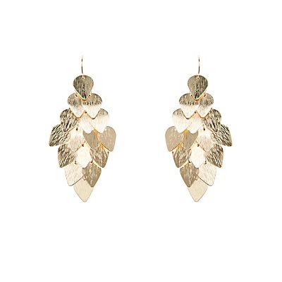 Etched Charm Chandelier Earrings