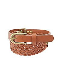 Braided Belt with Metal Details