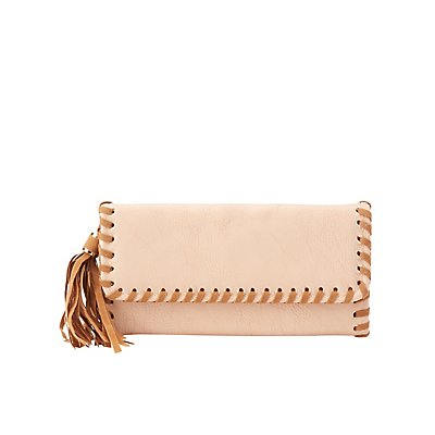 Whip-Stitched Tassel Wallet