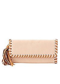Whip-Stitched Tassel Wallet