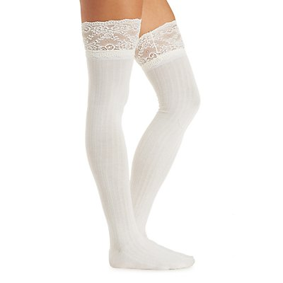 Lace Over-the-Knee Socks