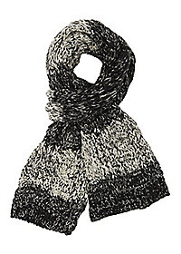 Two Tone Cable Knit Scarf
