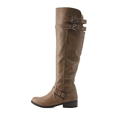 Qupid Triple-Belted Riding Boots
