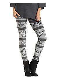 Printed Fleece Lined Leggings