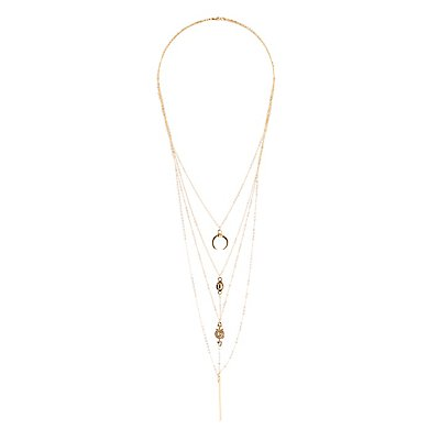Linked & Layered Charm Necklace