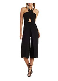 Wrapped Culottes Jumpsuit