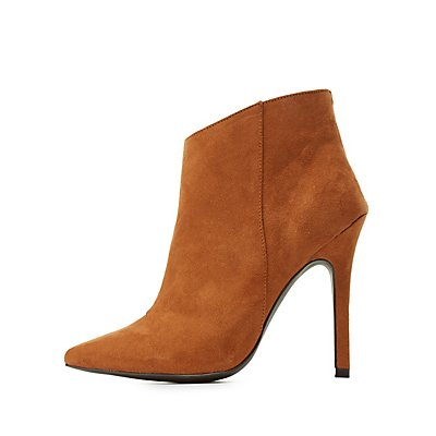 High Heel Pointed Toe Ankle Booties
