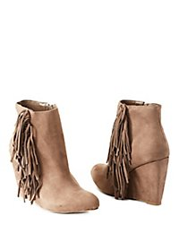 Madden Girl Fringe Wedge Booties