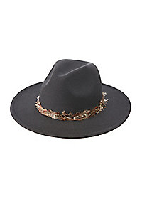 Feather Band Felt Panama Hat