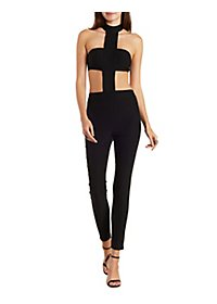 Bandeau Cut-Out Halter Jumpsuit