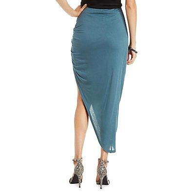 Asymmetrical Knot Front Skirt