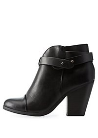 Belt-Wrapped Chunky Heel Ankle Booties