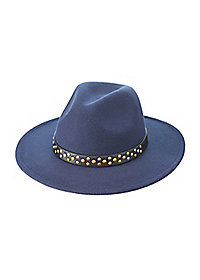 Studded Band Felt Panama Hat