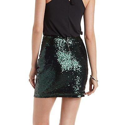 Sequin Bodycon Skirt