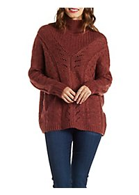 Mixed Stitch Pullover Sweater